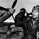Александр Иванович Покрышкин у самолётф МиГ-3, 1942 год